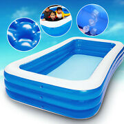 Family Outdoor Swimming Pool Garden Summer Inflatable Pools Kiddie Adults Pools