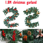 180cm Christmas Garland Green Christmas Rattan Indoor And Outdoor Fairy Decoration