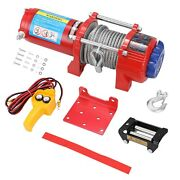 Car Recovery Electric Atv Trailer Truck Winch With 4500lb Rated Line Pull 10m H
