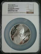 Great Britain Uk 10 Pounds 2020 Silver Proof Music Legends David Bowie Ngc Pf70