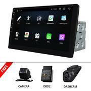 Obd+dvr+cam+double-din In-dash 8core Car Receiver Stereo Android/mp3/wma/usb/aux
