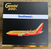 New Gemini Jets 1200 Scale Southwest Airlines Boeing 737-700 G2swa961 N714cb