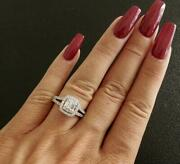 Engagement Ring 14kt White Gold And Diamond Ring Vintage Style Diamond Ring