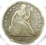 1872-cc Seated Liberty Silver Dollar 1 - Pcgs Fine Details - Carson City Coin