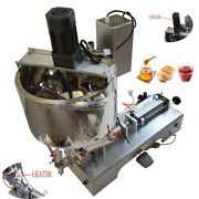 110v 5-50ml Paste Liquid Heating Mixing Filling Machine For Coffee Lotion Etc.