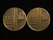 15th Anniversary Of Israel Fallen Soldiers Medal Set - Free Shipping Usa