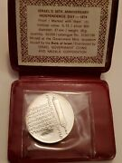 1974 Israel 10 Lirot 26th Anniversary Of Independence Silver Coin Proof