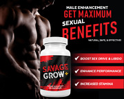 Savage Grow Plus 60 Capsules Male Enhancement Supplement 1000 Mg