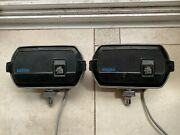 Lucas Ft8/lr8 Vintage Driving Lights 'square-8' With Cover, Great Shape