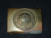 Wwi Imperial German Army Em Enlisted Belt Buckle Nco And039gott Mit Unsand039 Average Orig
