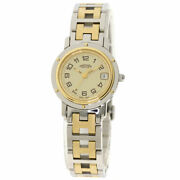 Hermes Clipper Watches Cl4.220 Stainless Steel/ssxgp Ladies
