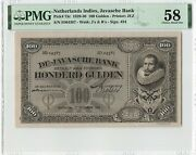 Netherlands Indies 100 Gulden 1930 Indonesia Pick 73c Pmg About Uncirculated 58