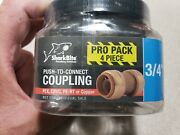 New Sharkbite 3/4 In. Push-to-connect Brass Coupling Fitting 4-pack