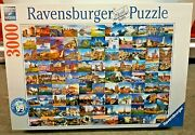 """Beautiful Places In Europe Jigsaw Puzzle 3000 Pieces 48"""" X 32"""" Ravensburger Nib"""