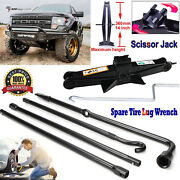 Spare Tire Tool Spanner Wrench Repairment Kit Scissor Jack For Ford F150 2004-14
