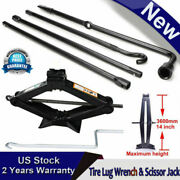 Repair Spare Tire Tool Kit With Scissor Jack Black Steel For Ford F1502004-14