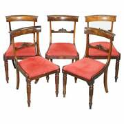 Stunning Suite Of Five William Iv Circa 1830 Rosewood Dining Chairs Sublime