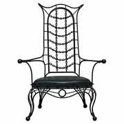 Interesting Iron Workers Gothic Sexy Dungeon Iron Throne Armchair Part Suite