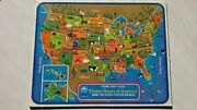 Us Map Frame-tray Puzzle By Golden Books - Hardcover
