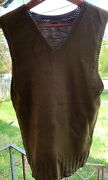 Vintage 40s Wwii Us Army Military American Red Cross Uniform Vest. Size M