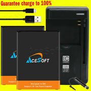Acesoft 4670mah Extended Slim Battery Charger Cable For Lg Stylo 3 Plus Tp450 Us