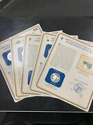 Postal Commemorative Society - Five Silver Dollar Coins And Stamp Cards