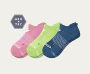 3-pack Bombas Womenand039s All-purpose Performance Ankle Sock - M - Pink Green Blue