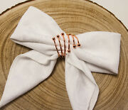 Spiral Metal Napkin Rings 3 Colours Xmas Dinner Wedding Pack Of 6 Christmas Deco