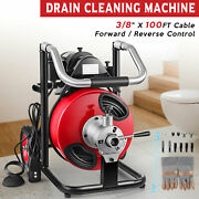 100and039 X 3/8 Drain Cleaning Machine Drum Auger Drain Cleaner 370w Plumbing Tools