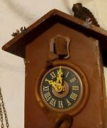 Coo Coo Clock For Parts Only As Is 7 1/4 X 7 Wood