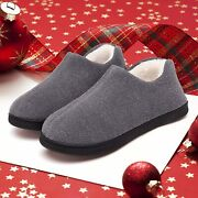 Mishansha Menand039s Slippers Warm Memory Foam Winter House Shoes Indoor Outdoor Warm