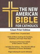 Holy Bible New American, Black, Bonded Leather, Catholic By Not Available Vg+