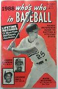 Who's Who In Baseball 1988 By Norman Maclean Excellent Condition