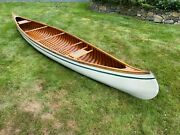 1911 Old Town Canoe Wood And Canvas Early Model New York