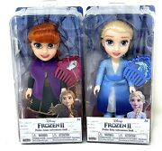Two Dolls Frozen 2 Princess Anna And Elsa 6 Petite Doll And Comb By Jakks 3+