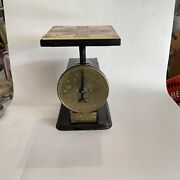 Wow Antique Brass Cast Iron Store Scale F.g. Deming Advertising Olympia Wa