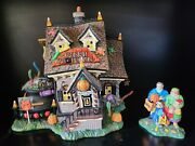 Department 56 The Candy Cauldron Retired And Getting Candy For Halloween 2pc Lot