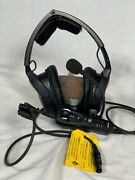 Bose A20 Aviation Headset With Bluetooth 6 Pin Lemo Cable - Black Good Condition