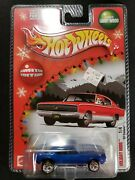 Hot Wheels Limited Edition Holiday Rods 1 Of 4 1967 Chevy Camaro Rare Blue