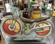 1930and039s American Amusement Park Carousel Motorcycle Ride