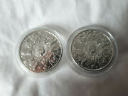 2 X The Queen's Beasts 2021 2oz Silver Bullion Coin £5 Completer Whole Series