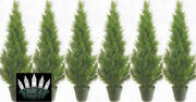 6 Cedar Outdoor 3and039 Topiary Tree Artificial Uv Cypress 5 4 Pine Christmas Lights