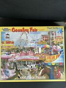 White Mountain Puzzles 1000 Pieces Country Fair 2014 Used Rare
