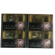 Lot Of 4 X-files Authentic 35mm Film Cels Collectors Edition 1996 Hand Cut