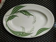Vint Clarice Cliff Royal Staffordshire Ceramics Lily Of The Valley Platter Oval