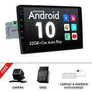 Obd+cam+carplay+iso 2din Android 10 9 Car Stereo Gps Bluetooth Dsp Wifi Usb Rds