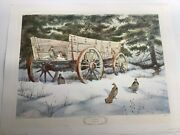 """Herb Booth Signed Lithograph """"a Winter Haven"""" Mint Never Framed"""