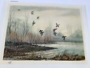 David Hagerbaumer Signed Andldquogreen Wing Flurryandrdquo With Remarque Mint Condition