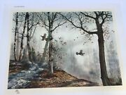 David Hagerbaumer Signed Lithograph Andldquoautumn Ruffsandrdquo With Remarque Mint