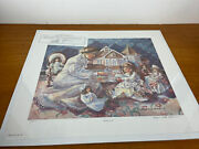 Angela Trotta Thomas 1994 Andldquowith Loveandrdquo Print Signed And Numbered Coa